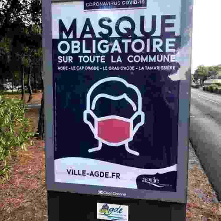 Aviso sobre uso de máscara em Agde - BBC - BBC