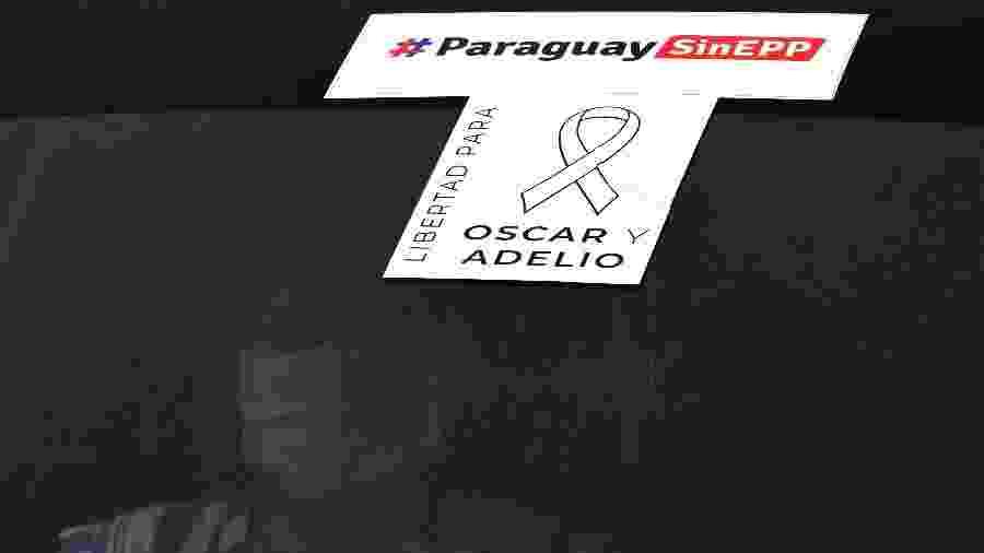 """13.set.2020: carreata pede """"Paraguai sem EPP"""" após o sequestro do ex-vice-presidente Oscar Denis - NORBERTO DUARTE / AFP"""
