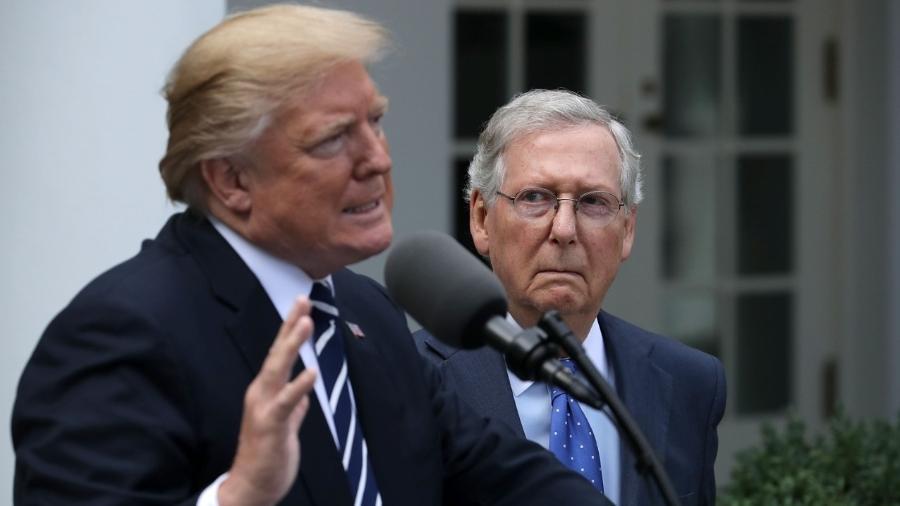 Presidente Donald Trump vai entregar o cargo na quarta-feira - Chip Somodevilla/Getty Images