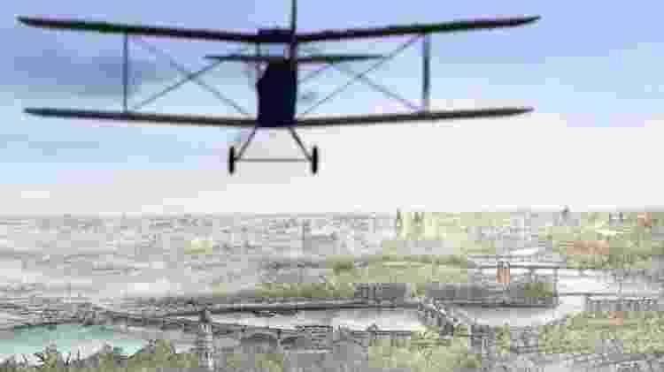 Ethel e Ernest: avião biplano corta a Londres em 1928 - Reprodução - Reprodução