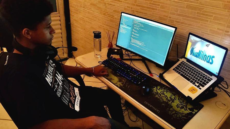 Samuel Nascimento trabalha como desenvolvedor Android nas linguagens de programação Java e Kotlin - Arquivo pessoal
