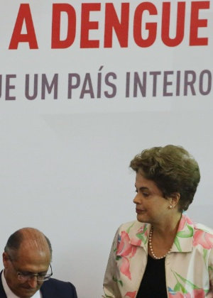 A presidente Dilma Rousseff (PT) durante assinatura do contrato entre o Ministério da Saúde e a Fundação Butantan para o desenvolvimento da vacina contra a dengue