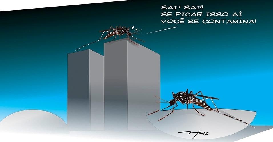 25.fev.2016 - É tanta sujeira em Brasília que até o mosquito Aedes evita