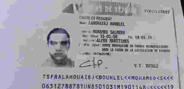 Suspeito do atentado em Nice - Reprodução - Reprodução