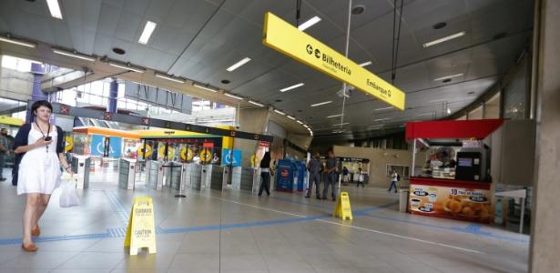 Estação Pinheiros, na Linha 4-Amarela