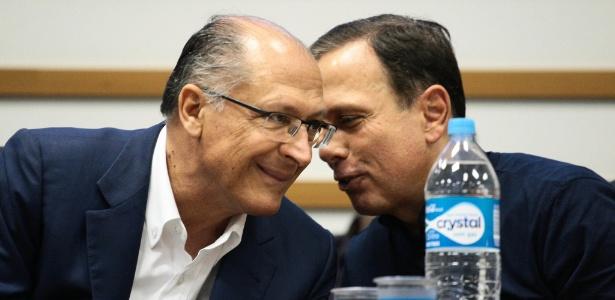 24.jun.2017 - João Doria e Geraldo Alckmin durante evento do PSDB em São Paulo