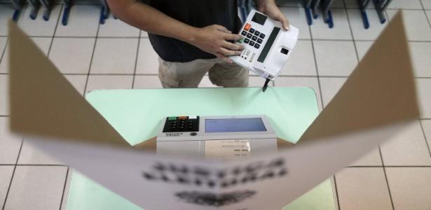 Modelo de urna eletrônica utilizada nos dias de votação
