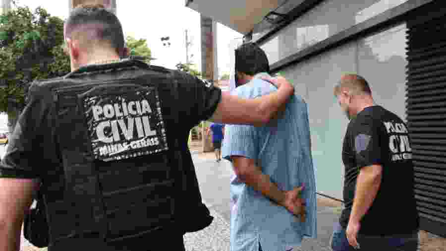 15.fev.2019 - Funcionário da Vale é preso em Belo Horizonte em investigação sobre o rompimento da barragem de Brumadinho (MG) - UARLEN VALéRIO/O TEMPO/ESTADÃO CONTEÚDO