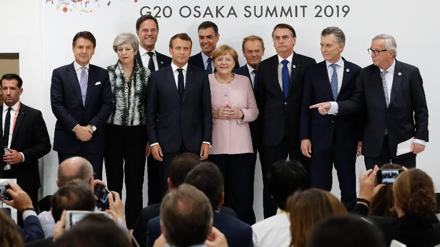 Tratado de livre comércio espera ratificação; Emmanuel Macron, presidente da França, se opõe a assinatura - Alan Santos - 29.jun/19/PR
