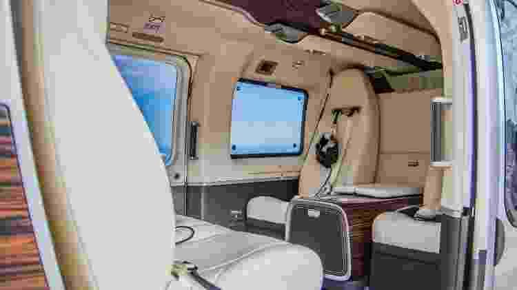 Outra configuração de interior do H145 mantém o requinte da linha personalizada da Airbus Corporate Helicopters - Michael Lopez/Airbus Corporate Helicopters