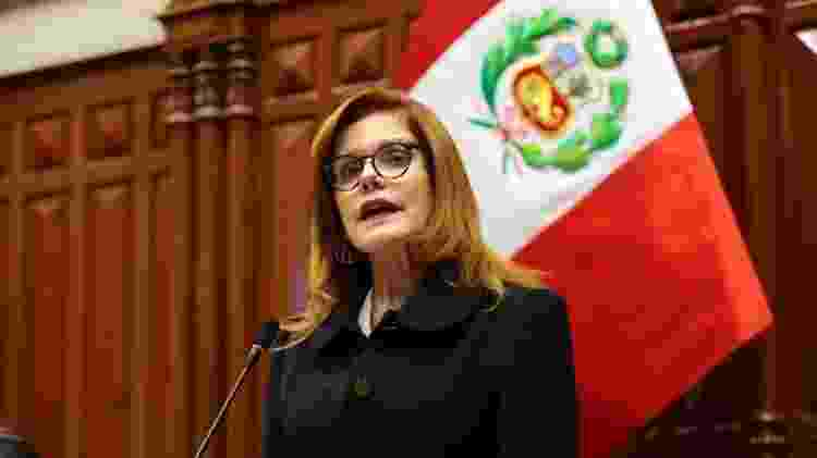 Vice-presidente Mercedes Aráoz prestou juramento como presidente interina do país - Congresso do Peru