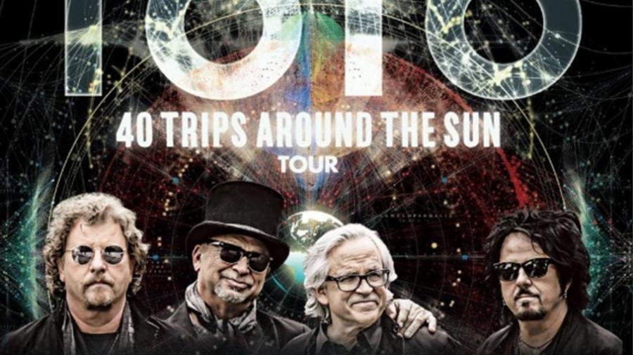 Divulgação da turnê mundial da banda TOTO, em comemoração aos seus 40 anos - Twitter