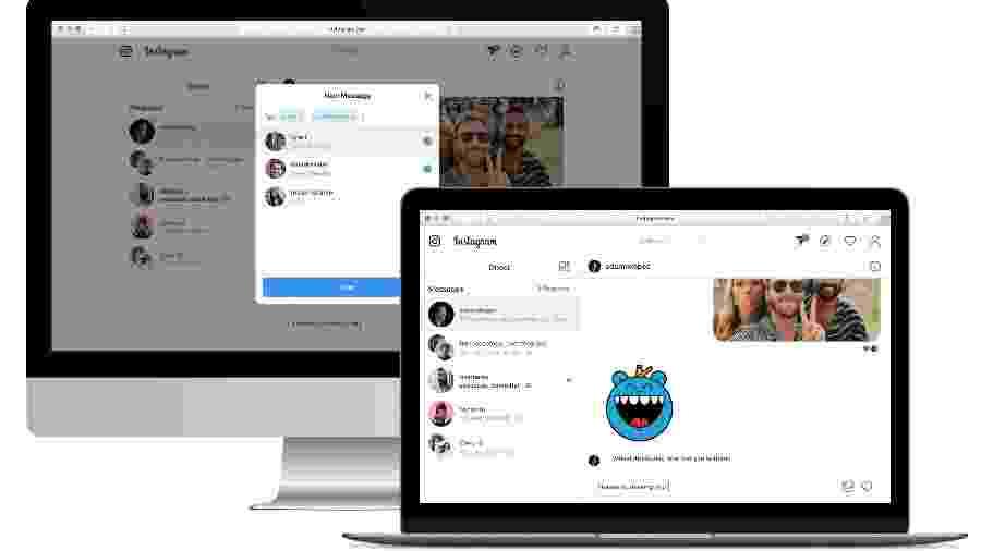 Os Directs do Instagram agora podem ser acessados direto do navegador do computador - Divulgação