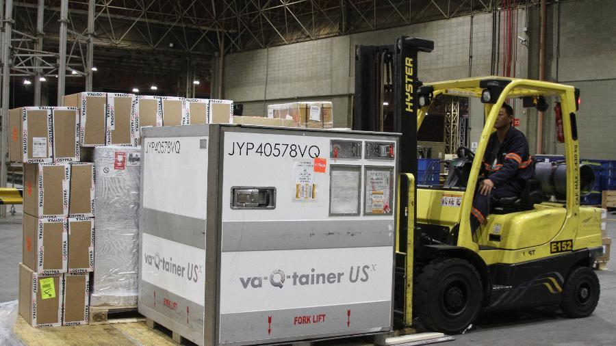 Kits com testes para o novo coronavírus chegam ao Aeroporto de Viracopos - Divulgação