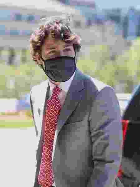 O primeiro-ministro do Canadá, Justin Trudeau, chega à Colina do Parlamento para um comitê sobre a pandemia de covid-19 - Dave Chan/AFP
