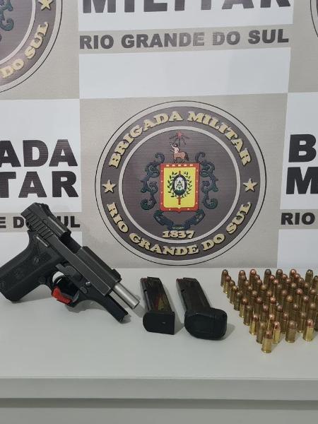 Suspeito de atirar em bebê em SC foram presos no Rio Grande do Sul - Divulgação/Brigada Militar
