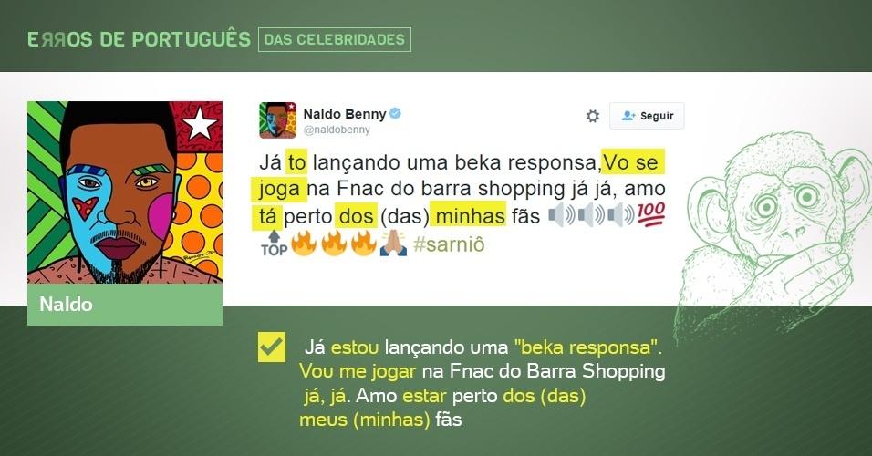 erros de português de celebridades - Naldo - corrigido