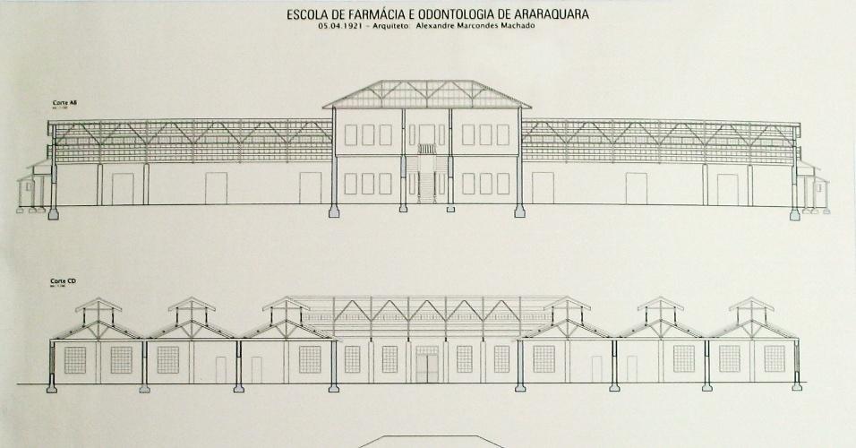 Projeto da Escola de Farmácia e Odontologia de Araraquara