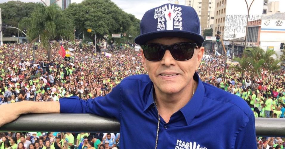 15.jun.2017 -  Apóstolo Estevam Hernandes, fundador da Marcha Para Jesus, maior evento evangélico do país. A estimativa dos organizadores é um público de 2 milhões de fiéis