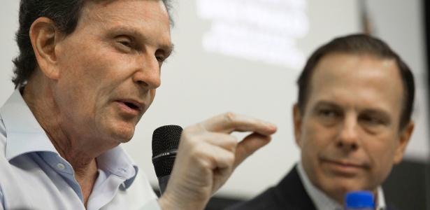Os prefeitos Marcelo Crivella e João Doria
