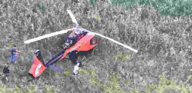 Helicóptero usado em ataque que matou líderes do PCC foi encontrado em Fernandópolis - Divulgação