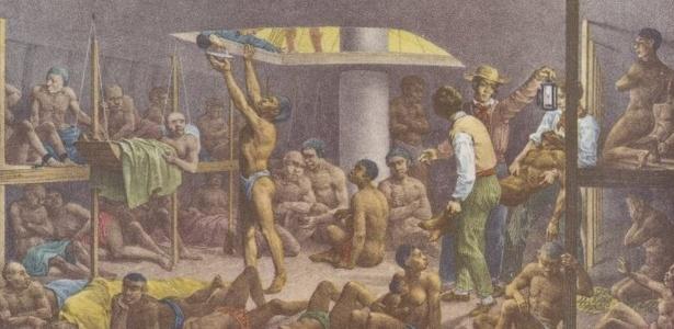 4,8 milhões de africanos foram transportados para o Brasil e vendidos como escravos, ao longo de mais de três séculos - The New York Public Library Digital Collections;