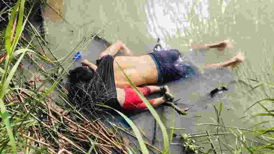Corpo do migrante salvadorenho Óscar Martínez Ramírez e sua filha foram encontrados no Rio Bravo em Matamoros, estado de Tamaulipas, fronteira entre México e Estados Unidos - Reuters