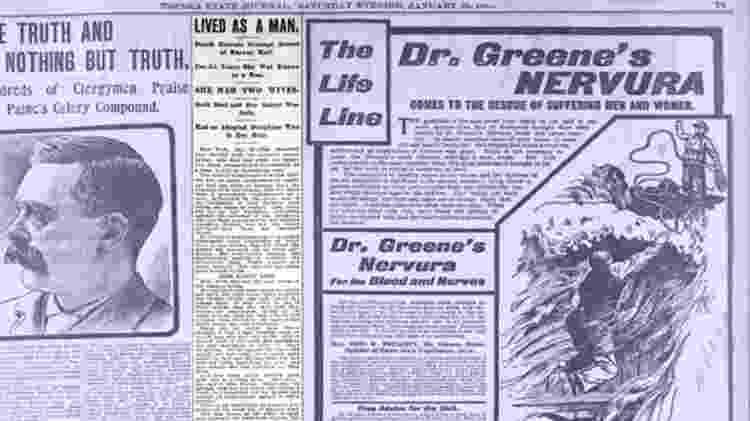O jornal The Topeka State Journal também publicou a história de Hall em 26 de janeiro de 1901 - Libraray of Congress
