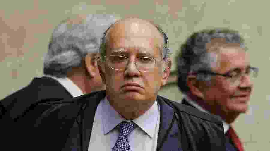 2.out.2019 - O ministro Gilmar Mendes, do STF, durante julgamento de caso que pode levar à anulação de sentenças da Operação Lava Jato - Dida Sampaio/Estadão Conteúdo