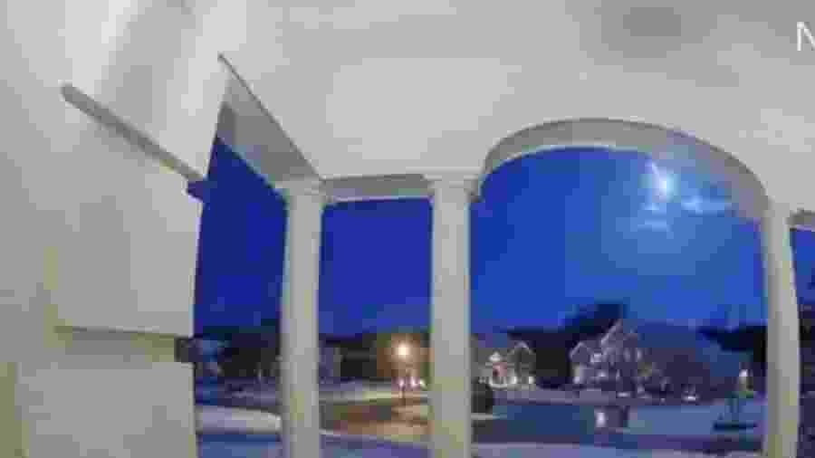 Meteoro cruza o céu de vários estados nos EUA - Reprodução/Twitter
