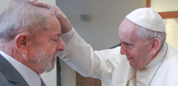 Viagem do petista para o Vaticano | Lula se encontra com o papa e posta: 'Conversa sobre mundo mais justo'