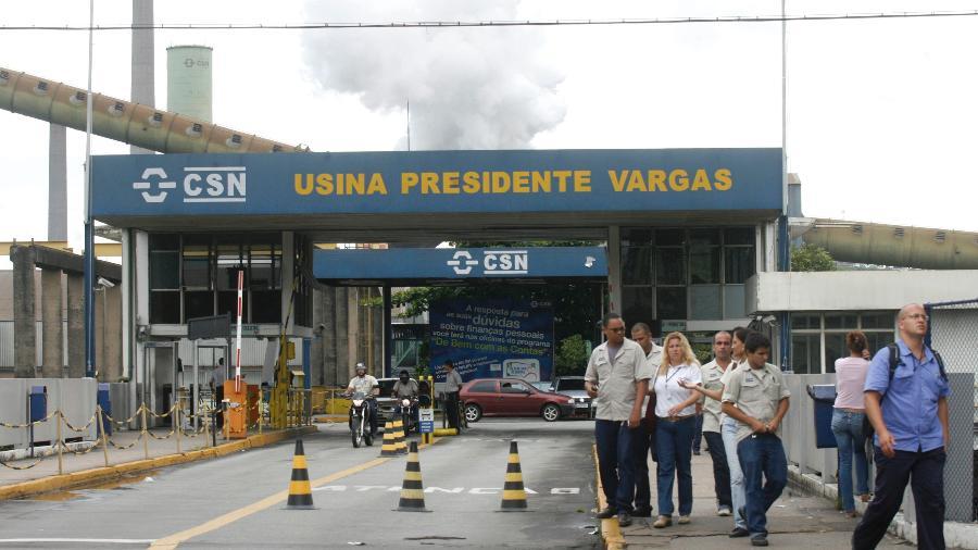 Entrada de usina da CSN em Volta Redonda (RJ) - Fernando Soutello