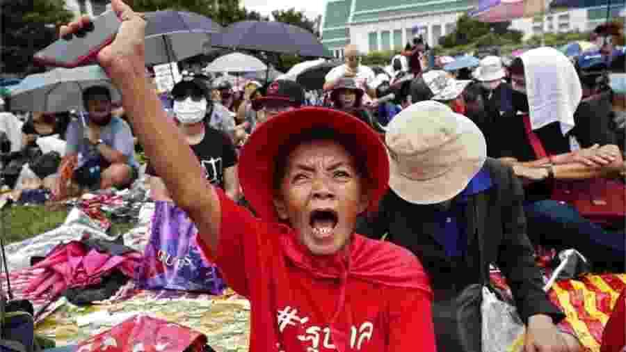 Tailândia registra protestos quase diários desde julho - EPA via BBC