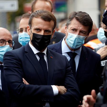 Arquivo - Macron sabe que a gestão da pandemia pode fazê-lo escalar ou despencar nas intenções de voto nas eleições presidenciais - ERIC GAILLARD/AFP