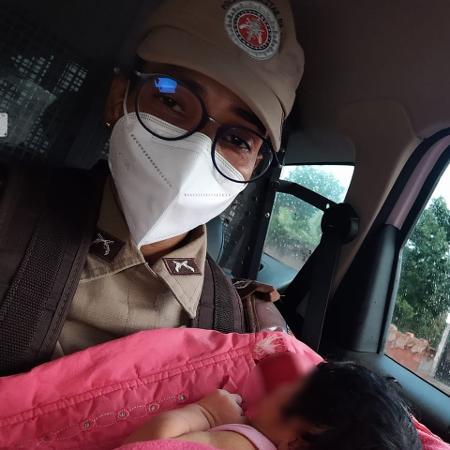A polícia foi chamada após a bebê ser encontrada - Divulgação/Polícia Militar da Bahia