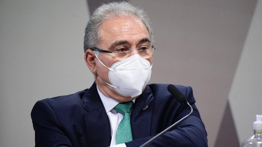 Ministro Queiroga passou cerca de 10h depondo na CPI da Covid-19 na última semana - Pedro França/Agência Senado