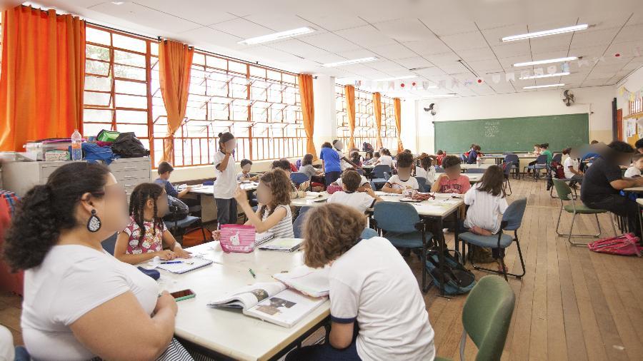 Arquivo: Salao intermediario de estudos e atividades dirigidas para turmas do 3º, 4º e 5º ano no Amorim Lima - Ze Carlos Barretta/Folhapress