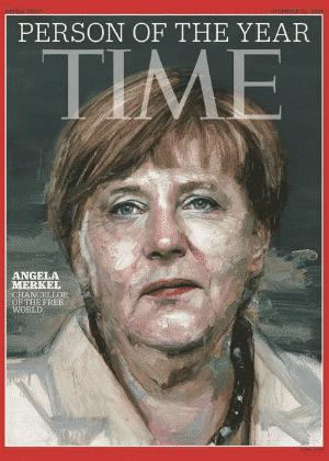 """Capa da revista """"Time"""" com a chanceler alemã, Angela Merkel, que recebeu o título de personalidade do ano de 2015 - Reprodução"""