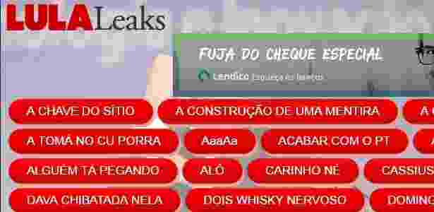 LulaLeaks - Reprodução - Reprodução