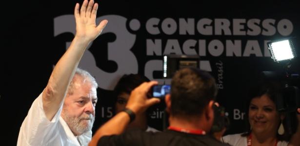 O ex-presidente Luiz Inácio Lula da Silva participa de seminário de educação em Brasília