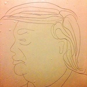 """Donald Trump na versão """"fio de cabelo"""""""
