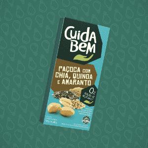 Paçoca com chia, quinoa e amaranto fabricada pela marca Cuida Bem - Divulgação