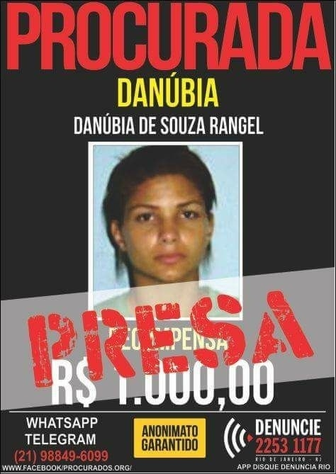 Danúbia Rangel, cartaz do Disque Denúncia