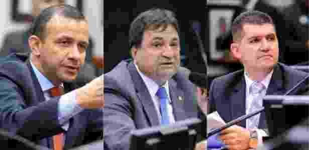 Os deputados Carlos Gomes (PRB-RS), César Halum (PRB-TO) e Ronaldo Martins (PRB-CE) - Fotos: Divulgação/Douglas Gomes/PRB - Fotos: Divulgação/Douglas Gomes/PRB