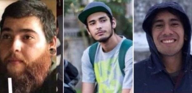 Salomón Aceves, Marco García e Daniel Díaz foram assassinados por bandidos de um cartel de drogas de Jalisco ao serem confundidos com membros de facção rival quando voltavam de uma filmagem para a universidade - Montagem de redes sociais