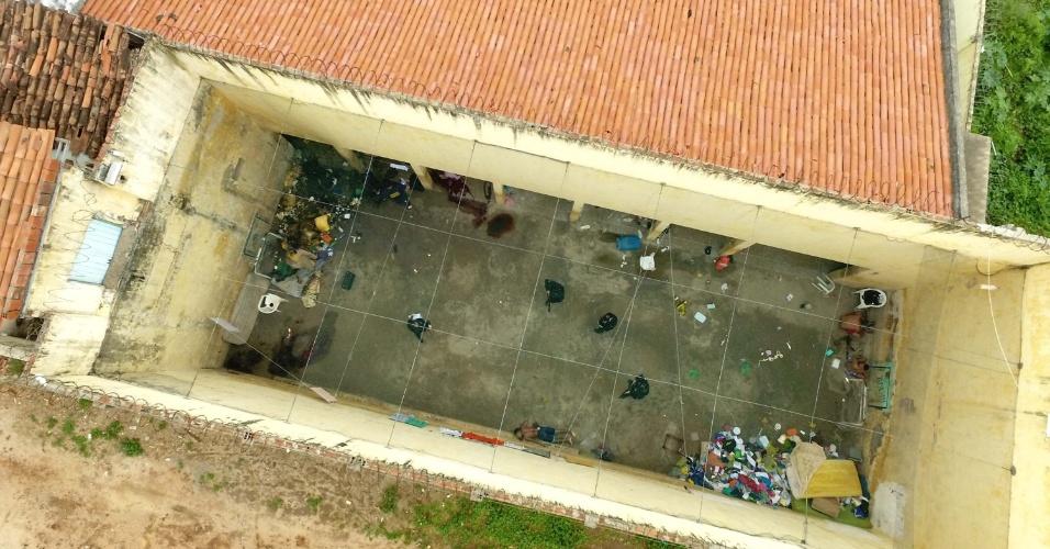 03.set.2018 -- Visão panorâmica da Cadeia Pública de Itapajé, onde dez presos foram assassinados no dia 29 de janeiro de 2018
