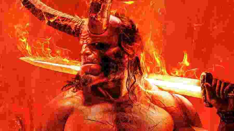 Hellboy é um herói lendário em pôster do reboot - Divulgação