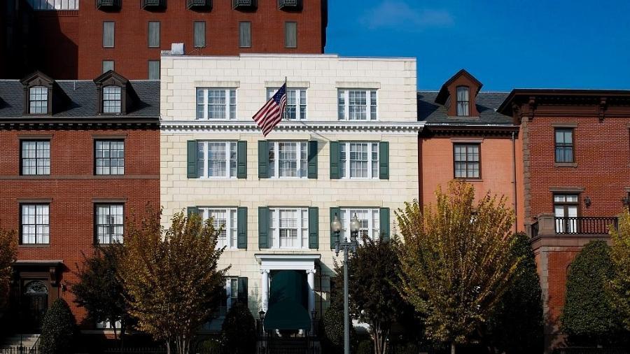 Blair House (de tijolos brancos), em Washington D.C. - Biblioteca do Congresso dos EUA/Divulgação