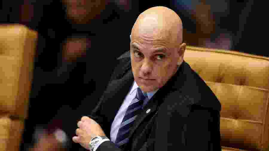 21.mar.2019 - O ministro Alexandre de Moraes durante sessão plenária do STF (Supremo Tribunal Federal), sob a presidência do ministro Dias Toffoli - Pedro Ladeira - 21.mar.2019/Folhapress