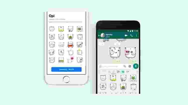 """WhatsApp lançará globalmente o pacote de figurinhas """"Opi"""", criado por Oscar Ospina - Divulgação"""